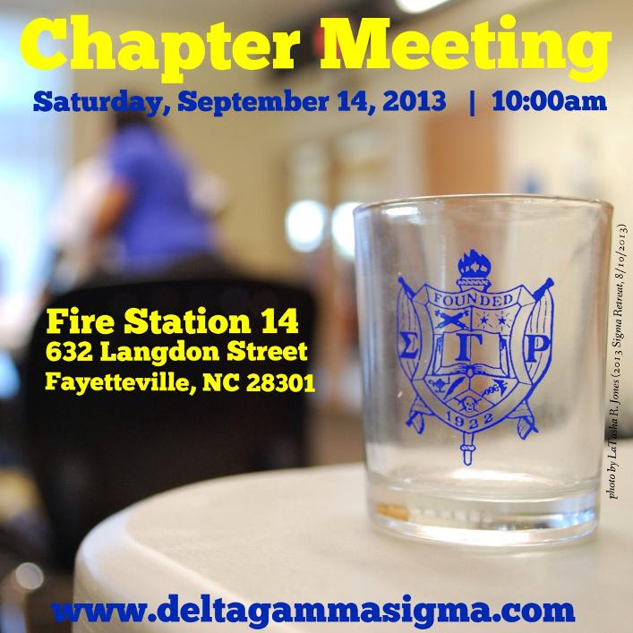 Chapter Meeting - September 14th, 2013